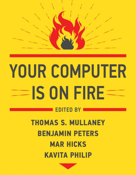 Cover of book--yellow with flames