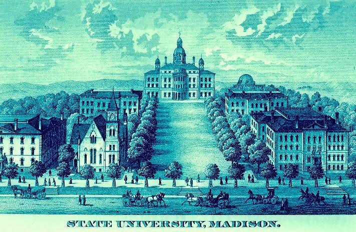 19th c. Engraving of Madison Campus.