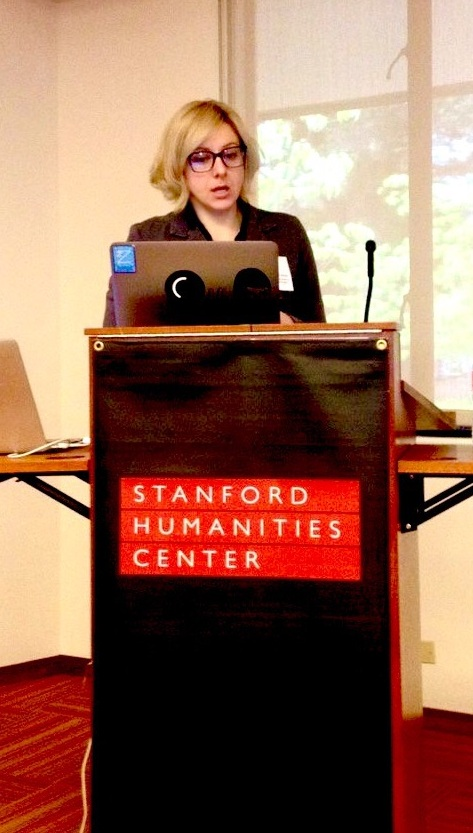 Marie Hicks speaking at Stanford in 2016.