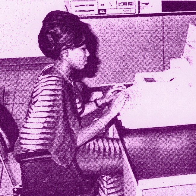 Woman Computer Operator in Africa in the 1960s.