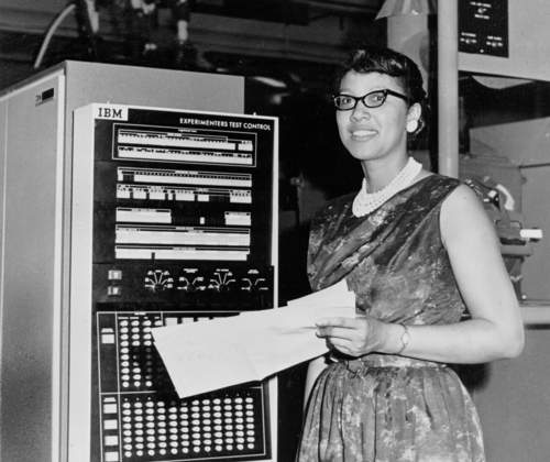 NASA Scientist Melba Roy Mouton with a computer circa 1964. Courtesy of NASA.